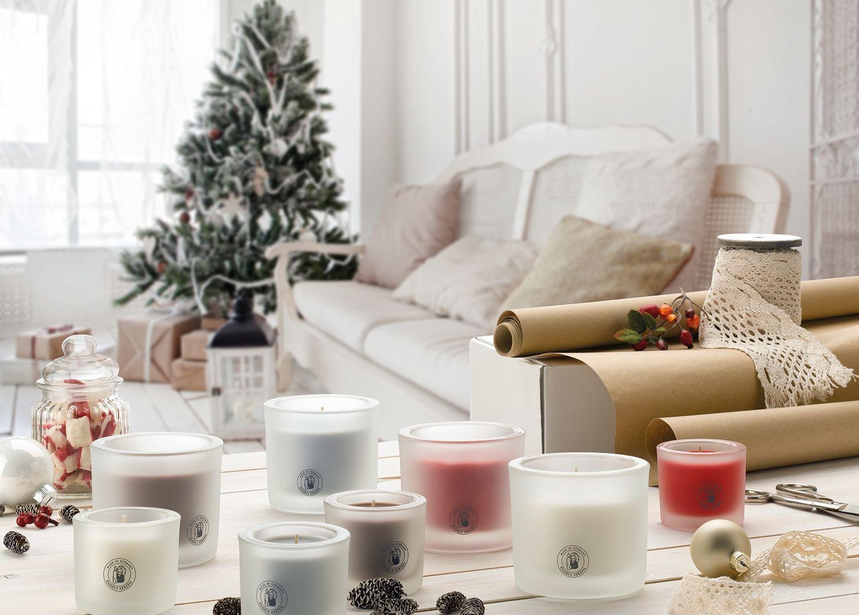Nachhaltige Geschenkideen, Objektkerzen und Weihnachtsmotive