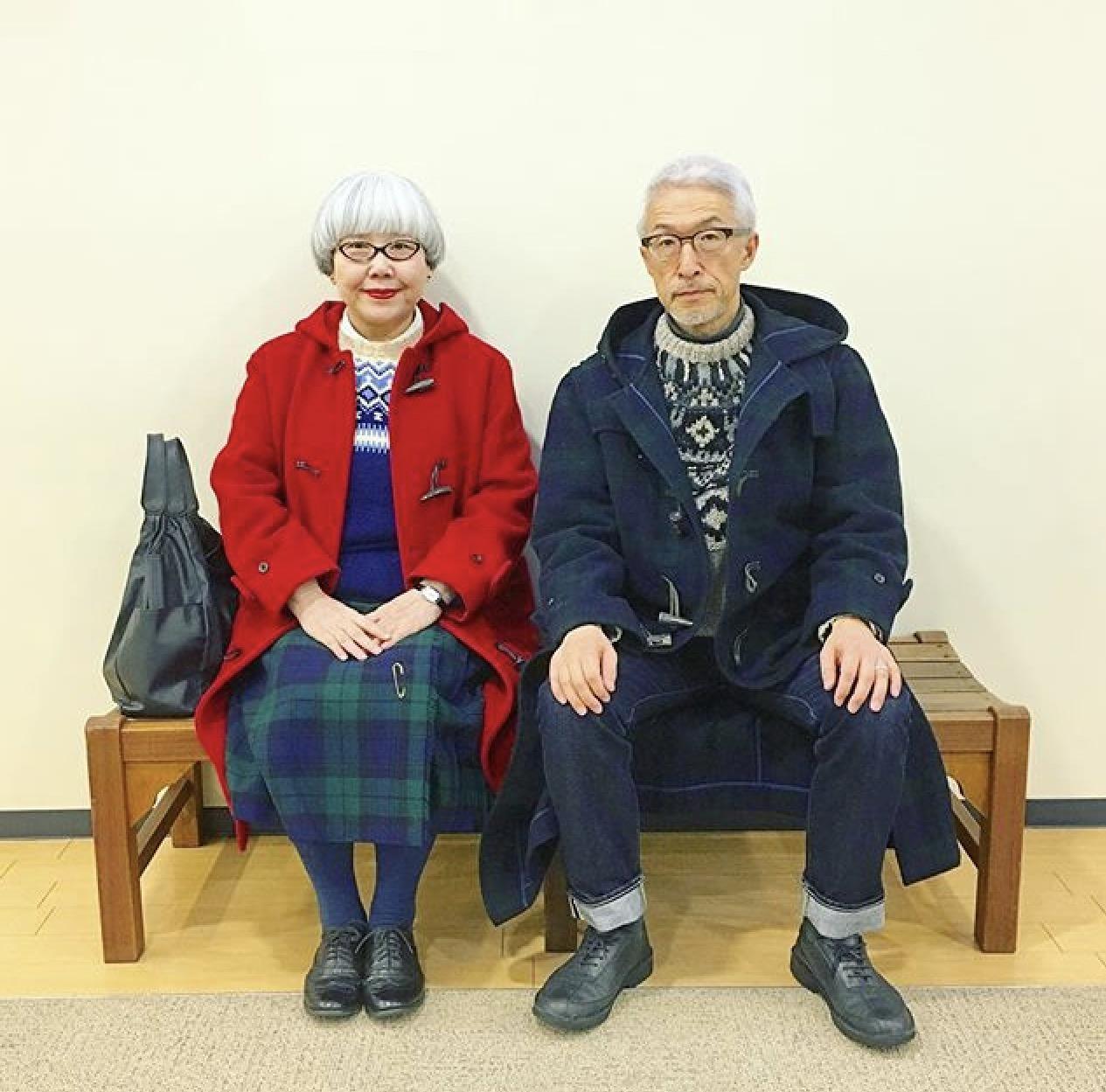 Japan, Ehepaar, Partnerlook