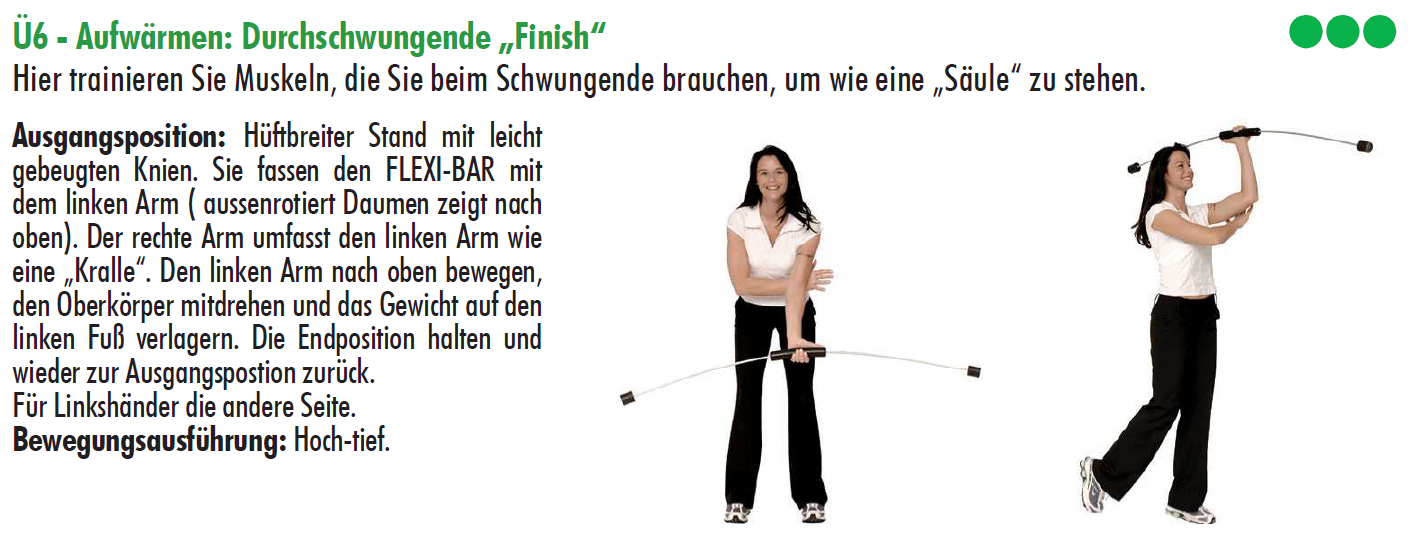Flexibar, golftraining
