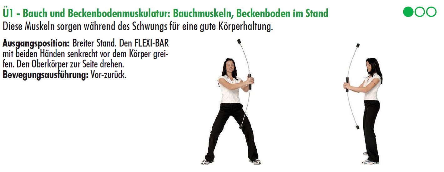 Flexibar, Trainingsplan,Golf