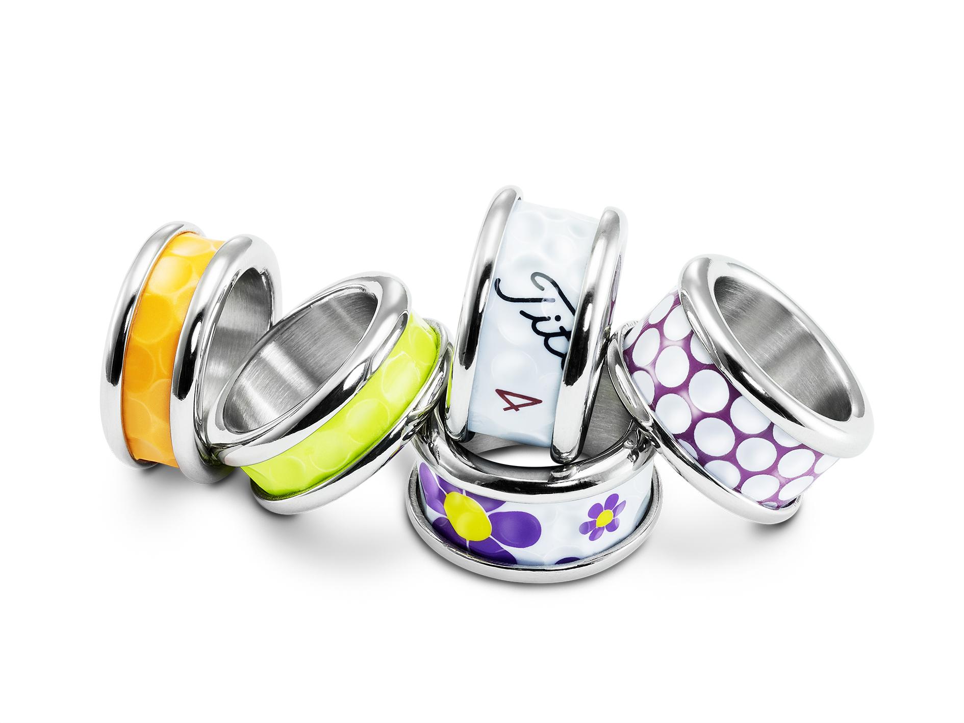 Golfballring,stylish dimpes,Ring