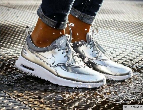 Schuhe,Silber, Nike