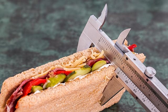 maßband mit sandwich