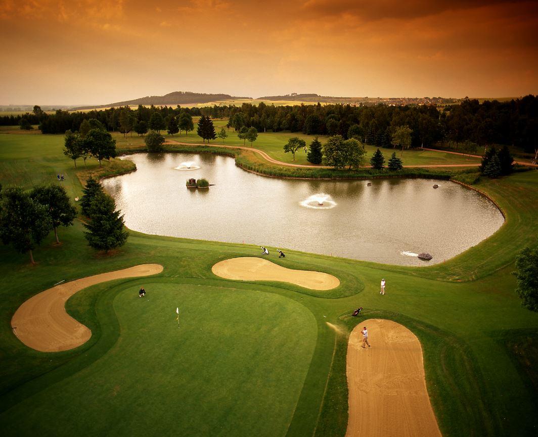 Golfplatz,Wasser,See