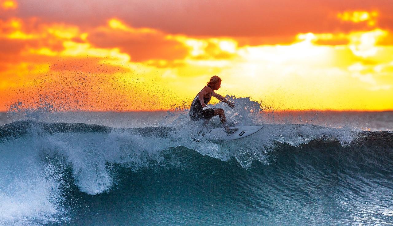 surfing, meer, sonne, strand