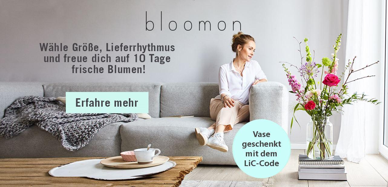 bloomon – frische Blumen für Dich & eine Vase geschenkt