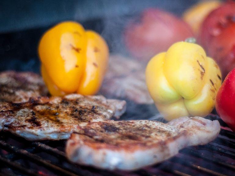 Fleisch,Grill,Paprika,Essen