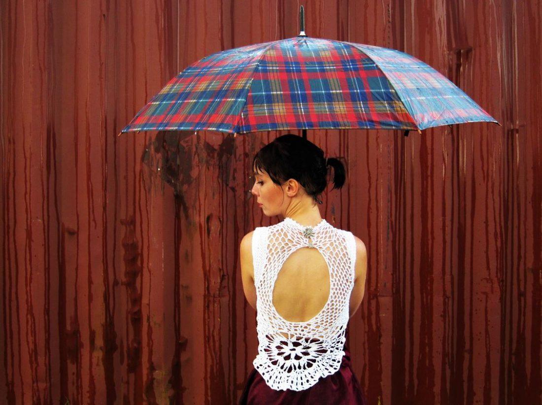 Top.Regenschirm,Frau