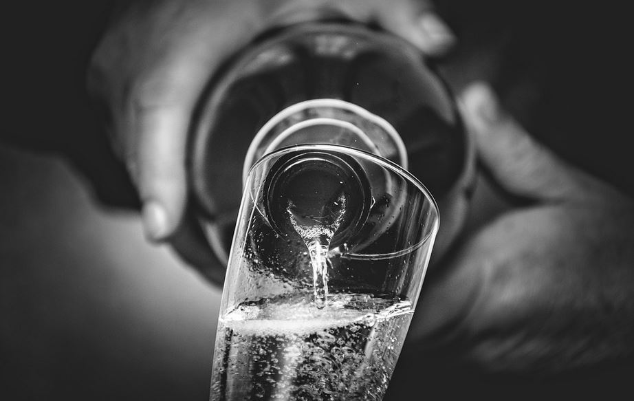 Wein Glas & Flasche
