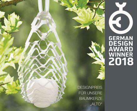 Engels Kerzen gewinnt German Design Award