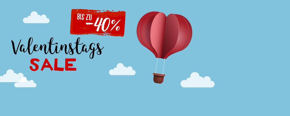 Valentinstags-Sale: Fotobücher uvm. bis zu 40% reduziert